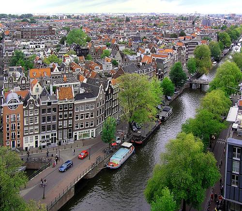 Vista aerea de Amsterdam